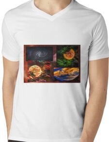 Space Art Mens V-Neck T-Shirt