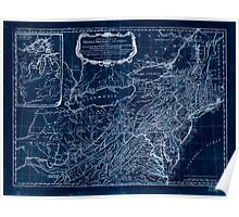 American Revolutionary War Era Maps 1750-1786 032 A general map of the middle British colonies in America 01 Inverted Poster