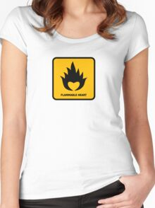 Flammable Heart Women's Fitted Scoop T-Shirt