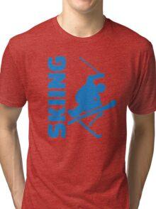 Skiing Tri-blend T-Shirt