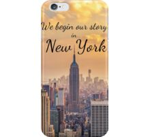 Taylor Swift NYC background iPhone Case/Skin