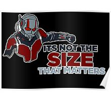 It's not the size that matters! Poster