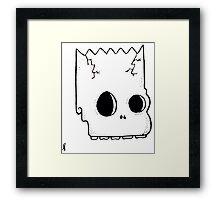 bart skull Framed Print