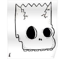 bart skull Poster