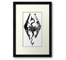 Skyrim Distressed Logo Framed Print