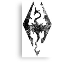 Skyrim Distressed Logo Canvas Print