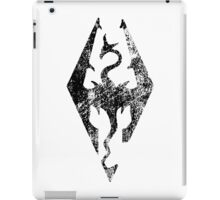 Skyrim Distressed Logo iPad Case/Skin