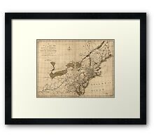 American Revolutionary War Era Maps 1750-1786 144 A new and accurate map of part of North America comprehending the provinces of New England New York Framed Print
