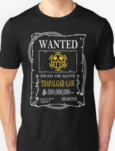 Wanted Trafalgar Law Unisex T-Shirt