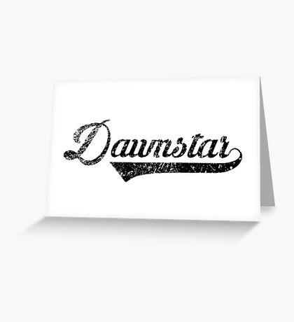 Skyrim Dawnstar Distressed Sports Lettering Greeting Card
