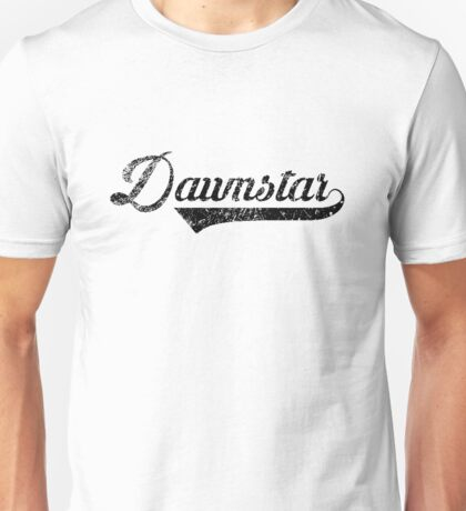 Skyrim Dawnstar Distressed Sports Lettering Unisex T-Shirt
