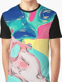 Abstract Artistic Colorful Dream World Graphic T-Shirt