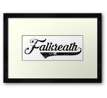 Skyrim Falkreath Distressed Sports Lettering Framed Print