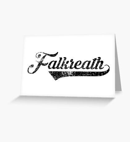 Skyrim Falkreath Distressed Sports Lettering Greeting Card