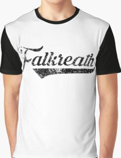 Skyrim Falkreath Distressed Sports Lettering Graphic T-Shirt