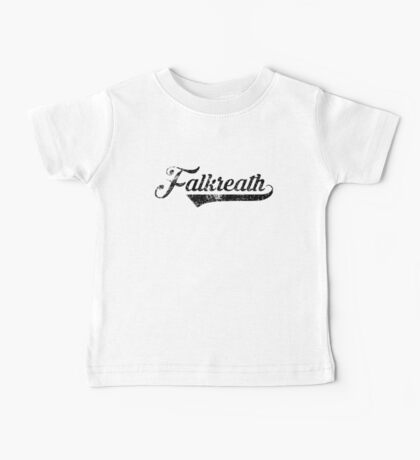 Skyrim Falkreath Distressed Sports Lettering Baby Tee