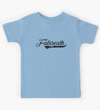 Skyrim Falkreath Distressed Sports Lettering Kids Tee