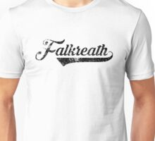 Skyrim Falkreath Distressed Sports Lettering Unisex T-Shirt