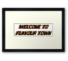 FLAVOUR TOWN Framed Print