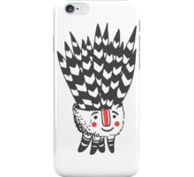 Cute smiling black and white plant  iPhone Case/Skin