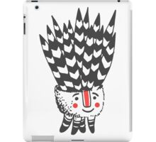 Cute smiling black and white plant  iPad Case/Skin