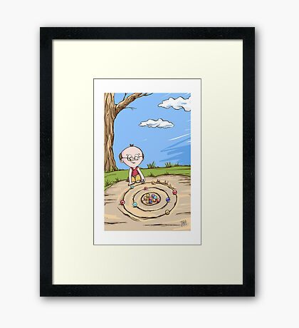 Planck - Lil Scientists Framed Print
