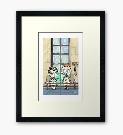 Curie - Lil' Scientists Series Framed Print