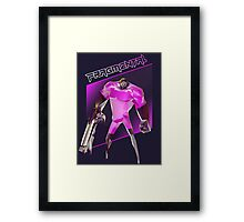 FRAGMENTAL PINK CHARACTER BY RUFFIAN GAMES Framed Print