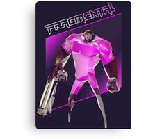 FRAGMENTAL PINK CHARACTER BY RUFFIAN GAMES Canvas Print