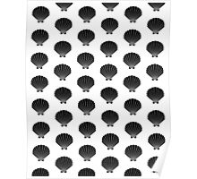 Seashells india ink modern minimal pattern print nautical kids nursery gender neutral shell Poster