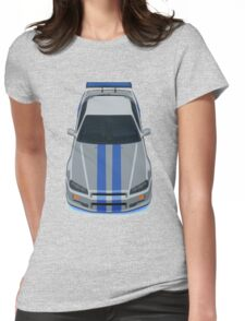 Fast and Furious Nissan Skyline GTR R34 Womens Fitted T-Shirt