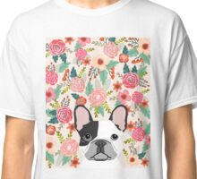French Bulldog florals cute spring summer dog gifts pet portraits for frenchie owners Classic T-Shirt
