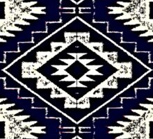 Navajo Vintage Blue Crazy Quilt Sticker