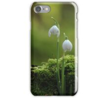 A pair of droopy snowdrops   iPhone Case/Skin