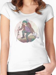 Portrait of a Traveler Women's Fitted Scoop T-Shirt