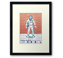 BJJ - Several Years In - Orange Framed Print