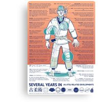 BJJ - Several Years In - Orange Canvas Print
