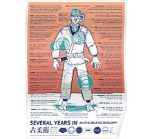 BJJ - Several Years In - Orange Poster