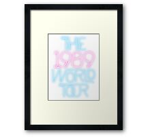 1989 World Tour Taylor Swift Pastel Typography Minimalist Graphic Framed Print