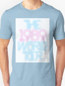 1989 World Tour Taylor Swift Pastel Typography Minimalist Graphic Unisex T-Shirt