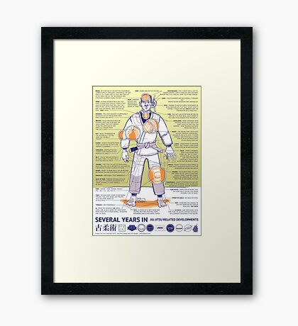 BJJ - Several Years In - Yellow Framed Print