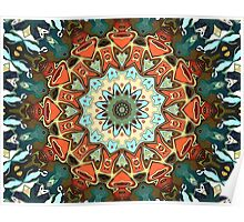 Concentric Abstract Symmetry Poster