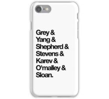 Grey's Anatomy | Characters iPhone Case/Skin