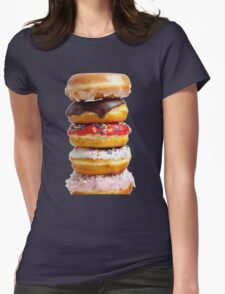 DONUT STACK Womens Fitted T-Shirt
