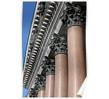 gable portico and columns Poster