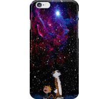 calvin and hobbes nebula  iPhone Case/Skin