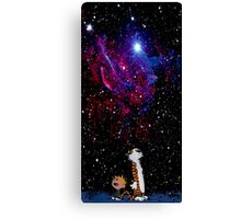 calvin and hobbes nebula  Canvas Print