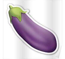 Eggplant Emoji Poster
