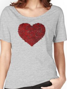 rose heart Women's Relaxed Fit T-Shirt