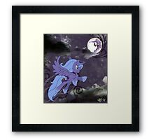 Lonely Luna Framed Print